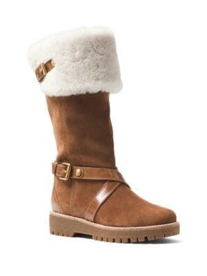 Warm Sheepskin Mid-Calf Boots by MICHAEL MICHAEL KORS