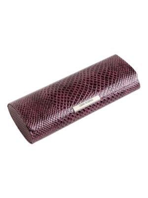 Crocodile Print Magnetic Glasses Case 500007456437