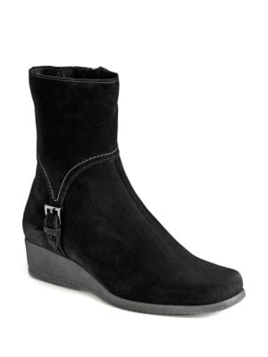 Laverna Waterproof Suede Wedge Boots by La Canadienne