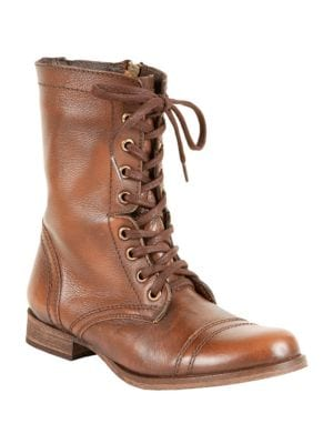 Troopa Leather Combat Boots by Steve Madden