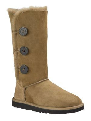 Tall Bailey Button Triplet Suede & Shearling Boots by UGG