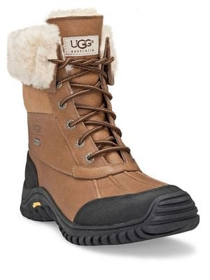 Adirondack II Lace-Up Shearling-Lined Leather Boots by UGG