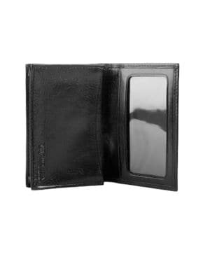 Old Leather Black Credit Card Case by Bosca