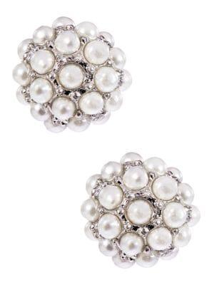 Pearl Stone Stud Earrings...