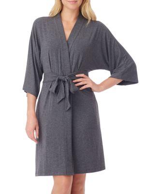 Urban Essentials Short Wrap Robe by DKNY