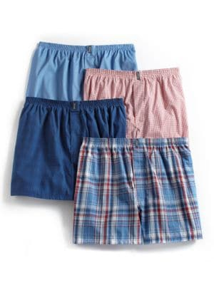 4-Pack Stay New Plaid Boxers by Jockey