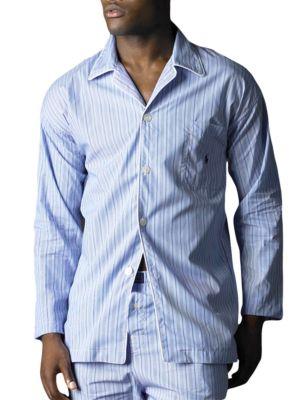 Striped Woven Pajama...