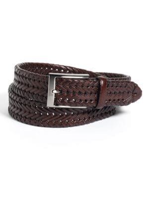 Woven Leather Belt @...