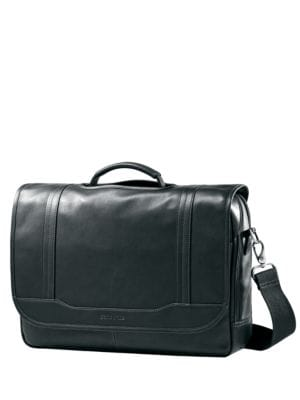 Columbian Leather Flapover Briefcase by Samsonite
