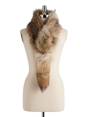 Convertible Coyote Fur Scarf 500017812371