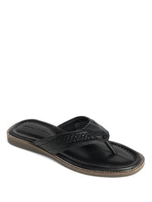 Anchors Away Leather Thong Sandals by Tommy Bahama