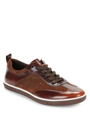 Down The Hatch Leather Sneakers by Kenneth Cole New York