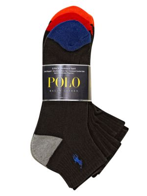 Heel Toe Arch Support Quarter Socks Set by Polo Ralph Lauren