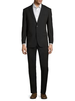 Modern Fit Two-Piece Wool Suit With Pleated Pants by Michael Kors
