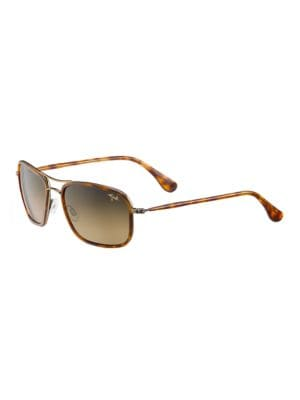Hawaiian Time Polarized Rounded Square Sunglasses by Maui Jim