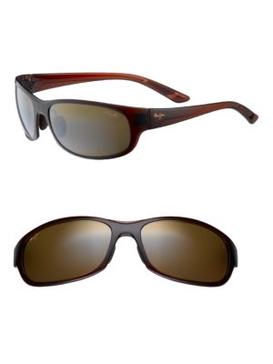 Twin Falls Rounded Polarized Rectangular Sunglasses by Maui Jim
