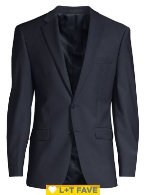 Slim Fit Wool Suit Separate Jacket by Calvin Klein
