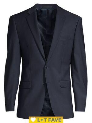Slim Fit Wool Suit Separate Jacket by Calvin Klein