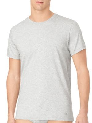 Two-Pack Cotton Classic Roundneck Tee by Calvin Klein