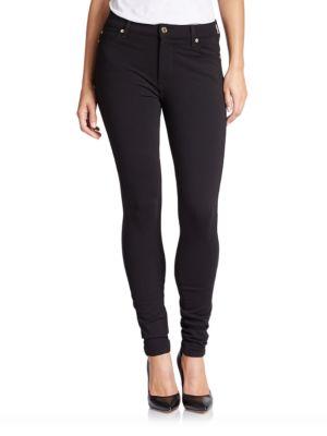 High-Waist Skinny Double-Knit Jeans 500018777847