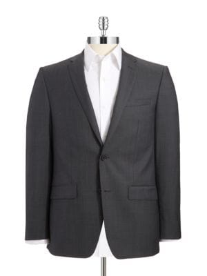 Wool Double Button Suit Jacket by DKNY
