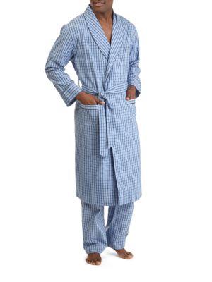 Plaid Cotton Robe @...
