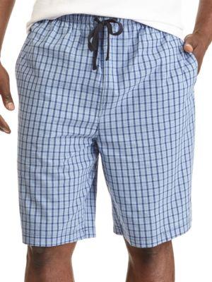 Plaid Cotton Pajama Shorts...
