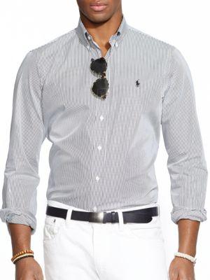 Hairline-Striped Poplin Shirt by Polo Ralph Lauren