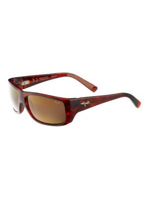 Wassup Polarized Rectangular Sunglasses by Maui Jim
