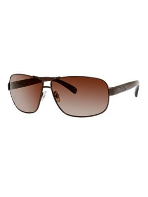 Polarized Rounded Rectangular Sunglasses by Polaroid