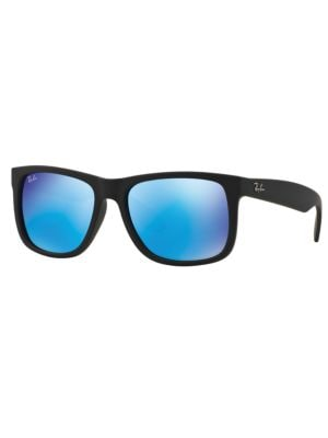 Justin Flash Lens Square Sunglasses by Ray-Ban