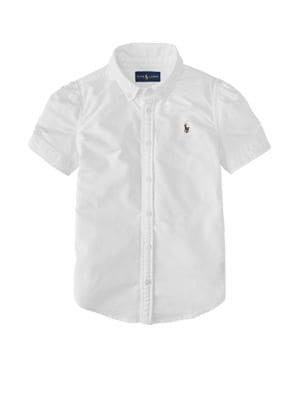Short Sleeve Oxford Shirt...