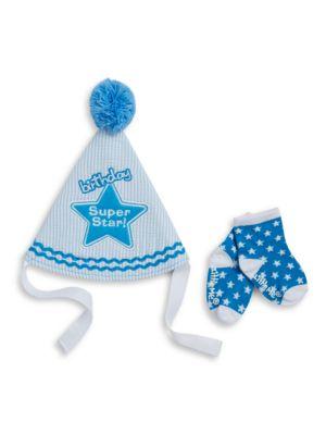 TwoPiece Birthday Super Star Hat And Socks Set