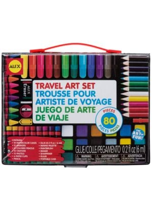 80 Piece Travel Art Set