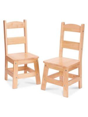 Wooden Chair Pair 500019721968