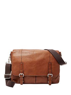 Grain Leather Messenger Bag by Michael Kors