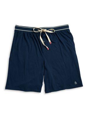 Cotton-Blend Pajama Shorts...