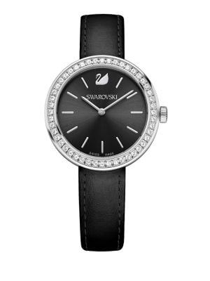 Daytime Pave Leather-Strap...