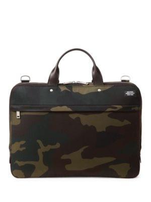 Water-Resistant Camo Waxwear Slim Briefcase by Jack Spade
