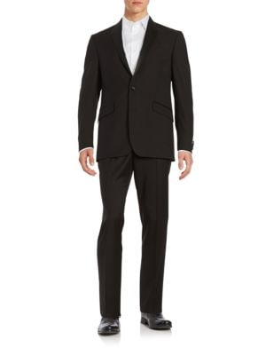 Satin-Trimmed Suit by Kenneth Cole REACTION