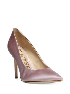 Hazel Pointed Toe Satin Pumps by Sam Edelman