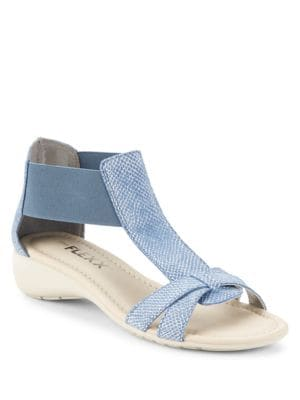 Band Together T-Strap Sandals by The Flexx