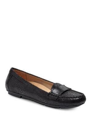 Larun Embossed Leather Loafers by Vionic