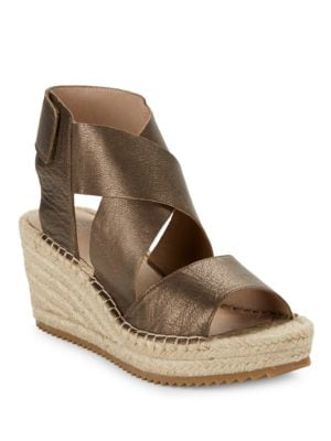Willow Leather Platform Sandals by Eileen Fisher