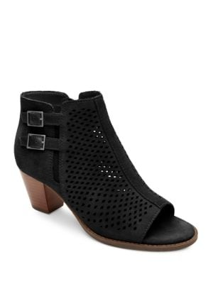 Buy Chryssa Suede Open-toe Ankle Boots by Vionic online