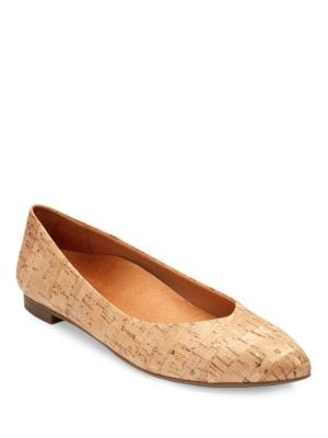 Photo of Caballo Metallic Cork Flats by Vionic - shop Vionic shoes sales