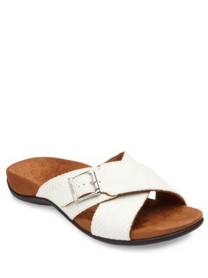 Dorie Crisscross Slide Sandals by Vionic