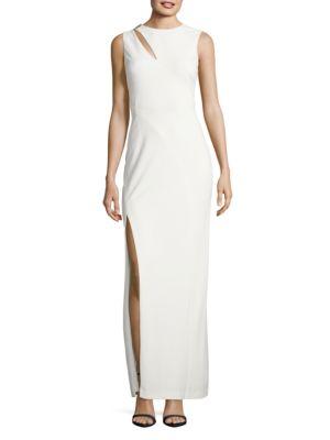 Sleeveless Column Gown by Nicole Bakti