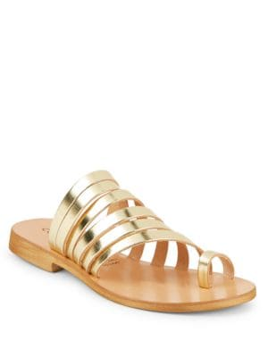 Palermo Strappy Leather Slide Sandals by Cocobelle