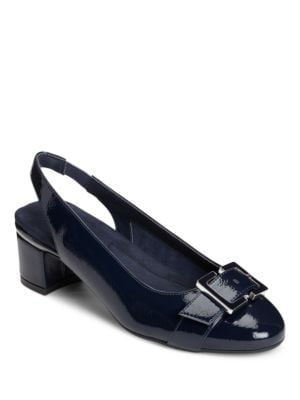 Inkpad Patent Leather Slingback Pumps by Aerosoles